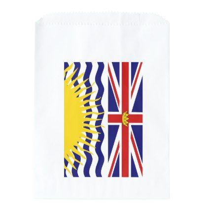 British Columbia flag Favor Bag - craft supplies diy custom design supply special