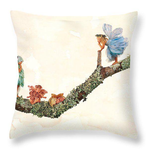 Throw Pillow featuring the photograph Fairies by Anne Geddes