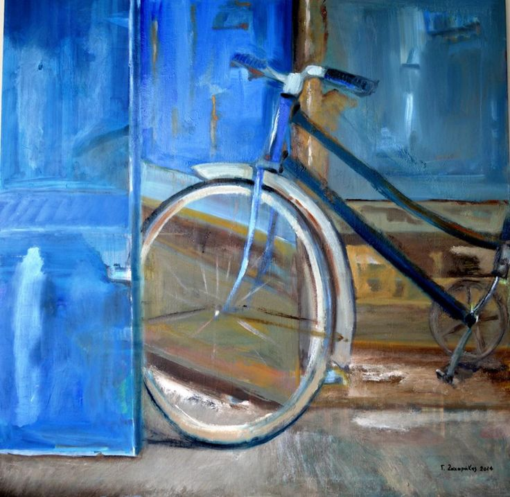 Ciannis Zacharakis Σμίξαμε (mingle) 2014  100Χ100 cm oil on canvas