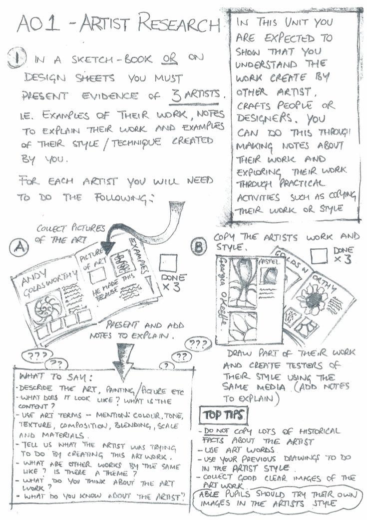 Student Support booklet Natural Forms - Artist research page 2
