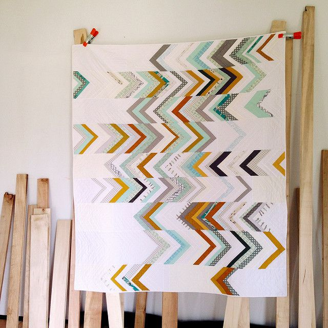 """Stunningly simple and beautiful """"Somewhat Herringbone Quilt"""" by Dorie Schwarz of Tumbling Blocks."""