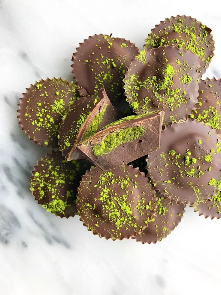 Super Easy Double Chocolate Matcha Cups