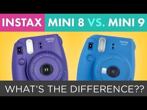 (37) Fuji Instax Mini 9 vs. Fuji Instax Mini 8 Instant Film Camera Comparison - YouTube