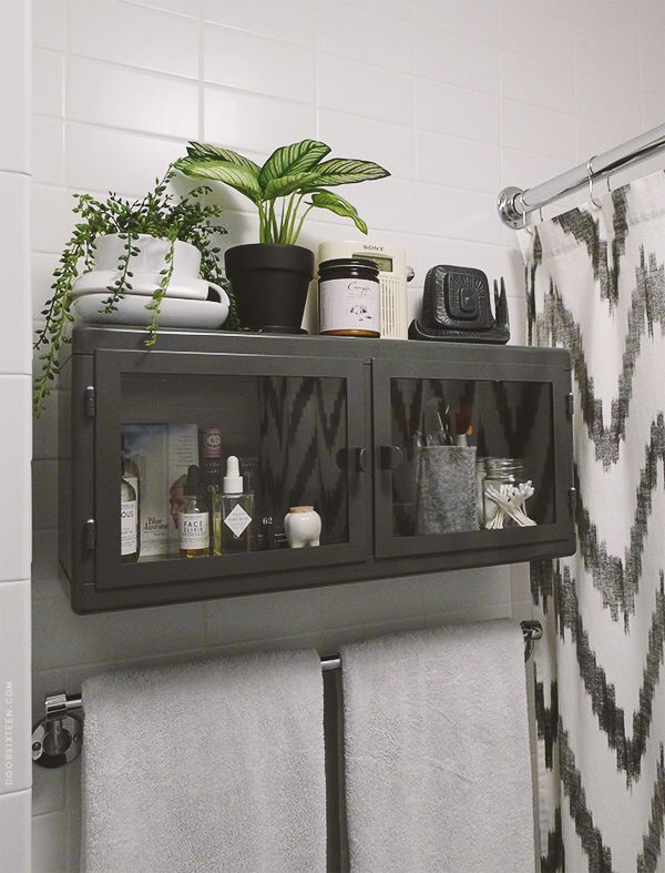 IKEA Raskog cabinet for bathroom (via Door Sixteen)