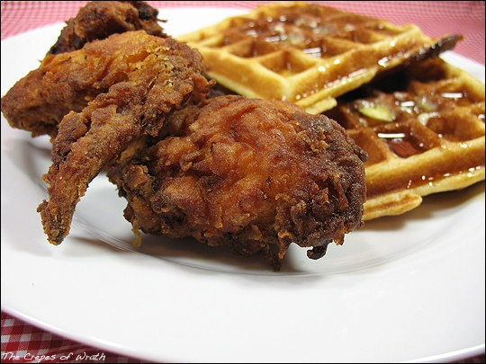 Fried Chicken And Waffles, Chicken And Waffles and Fried Chicken