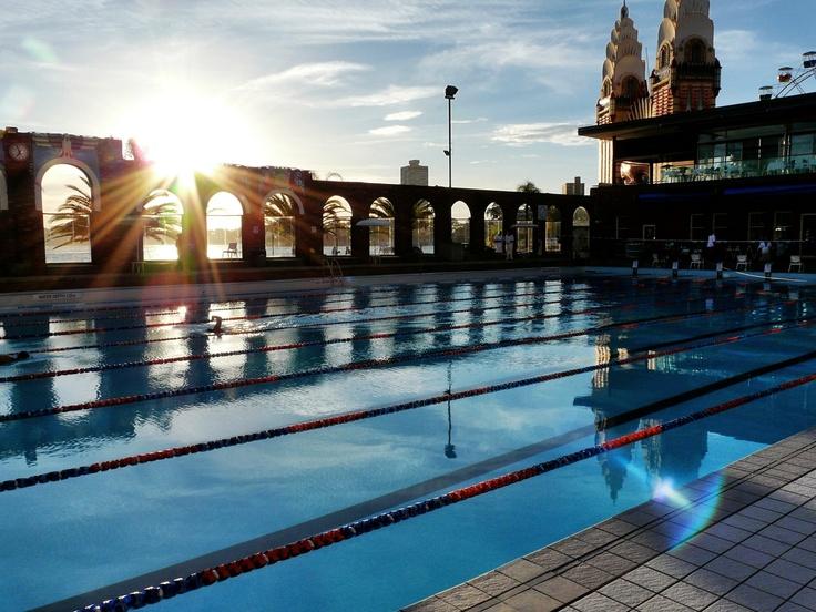 North Sydney pool. Pleasant Saturday evening.