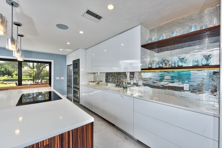 Pantry Kitchen Cabinets Glass Doors In Pompano