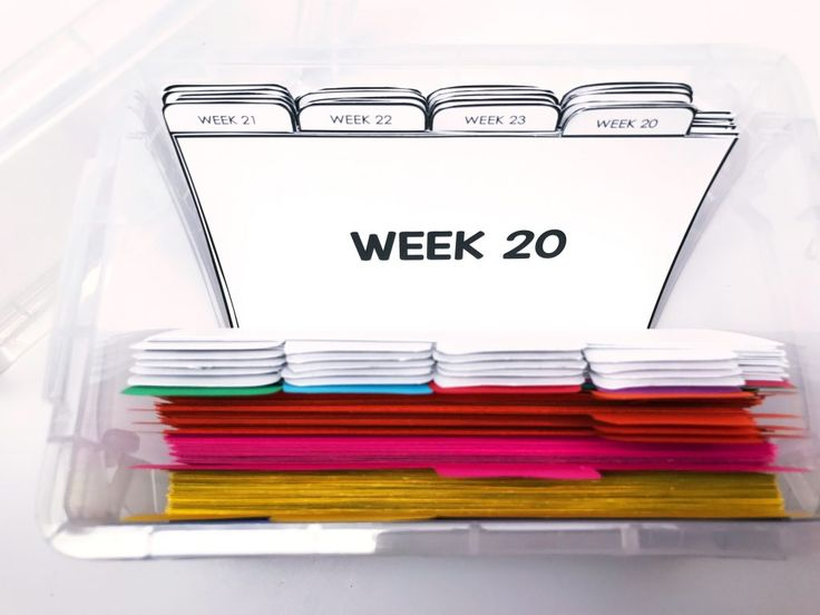 "Index Card Organizer: You can ""pull cards"" from the parts of speech section, and you can organize them by week! That way, you are prepared for the week ahead!"