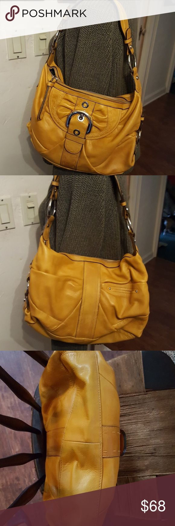 Fab b. Makowsky shoulder bag Fabulous bag with Gorgeous details. Shows normal wear. Beautiful leather. Great color to make your neutral colors pop. Open to reasonable offers. b. makowsky Bags Shoulder Bags