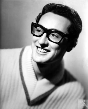 """Buddy Holly died at age 22 in a plane crash that took the lives of fellow rising rock and roll stars Richie Valens and J.P. """"The Big Bopper"""" Richardson.: Buddy Holly (1936-1959)"""