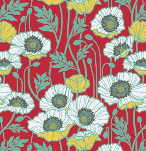 "I can see making a denim purse/handbag and using this for the lining!!! JOEL DEWBERRY ""NOTTING HILL"" PRISTINE POPPY"