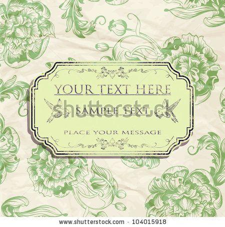 stock vector : vintage card design for greeting card, invitation, menu, etc 2