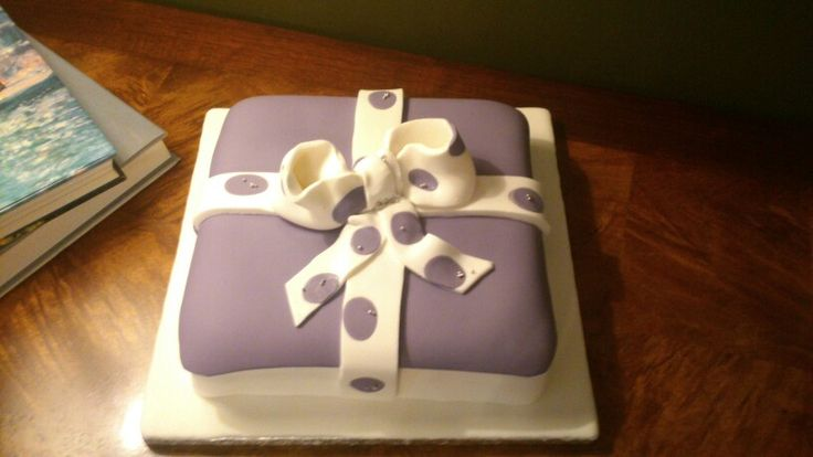 Present Box -birthday cake-purple by Nefeli.