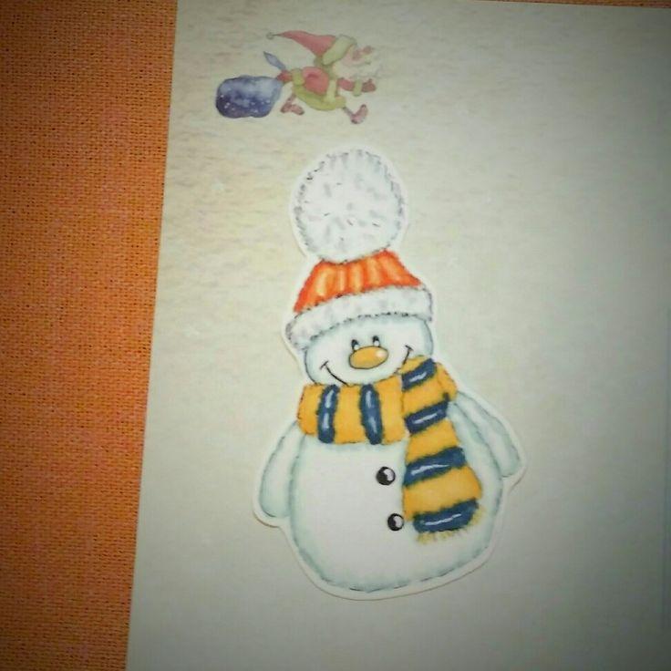 Снеговик спиртовыми маркерами