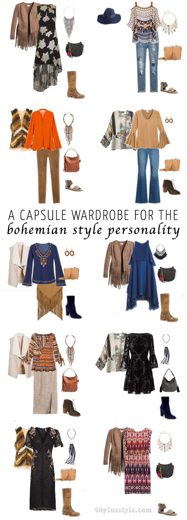 A Capsule Wardrobe For The Bohemian Style Personality Capsula Pinterest Arm Rio C Psula
