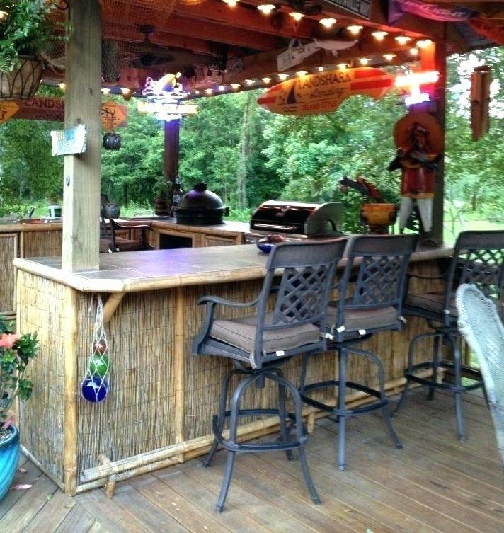 Front Porch Decorating Ideas On A Budget Set Up A Bar Backyard Bar Outdoor Tiki Bar Tiki Bars Backyard