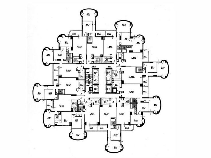 Paul Rudolph / Tracey towers / 1972