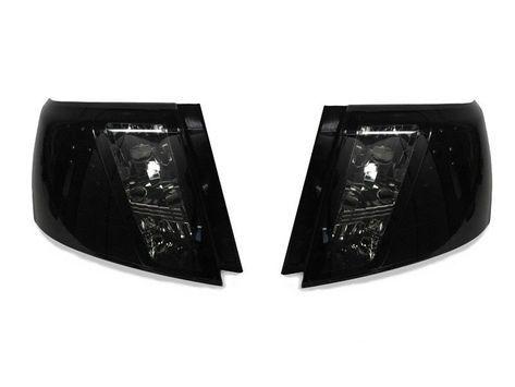 DEPO BLACK / SMOKE REAR LED TAIL LIGHTS FIT 08-11 IMPREZA / 08-14 WRX 4DR SEDAN #DEPOAutoParts