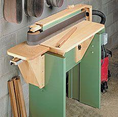 shop-built edge sander woodworking plan