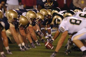 In America, football is a fall sport played in organized leagues by children, in high schools and colleges/universities, and on professional sports teams.