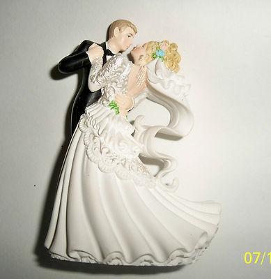 Vintage Wedding Cake Topper Dancing Bride Groom Wilton Blonde 4 In