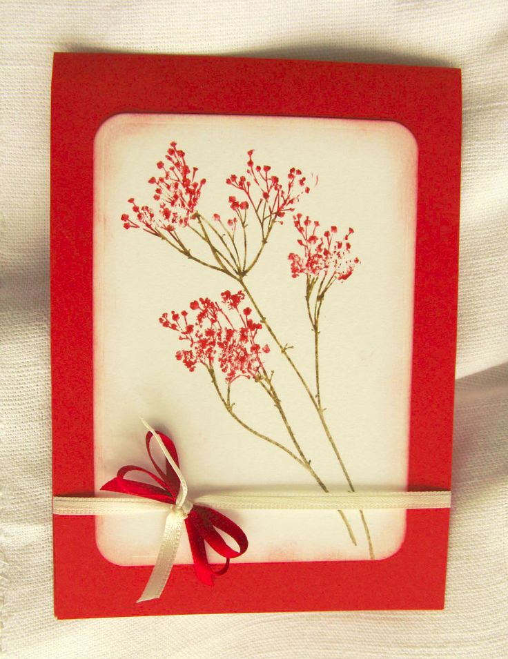 Invito floreale rosso