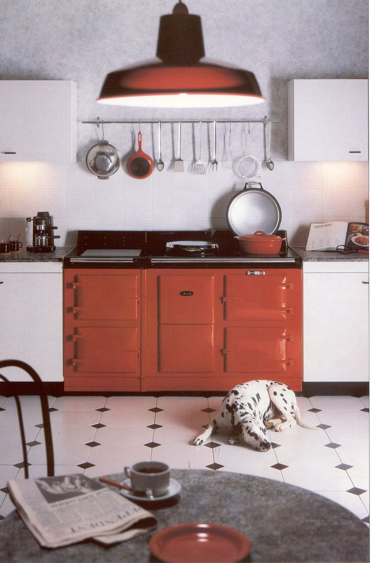 88 best pets love aga images on pinterest cottage kitchens dog sleeping by a red aga cooker is this a firehouse kitchen