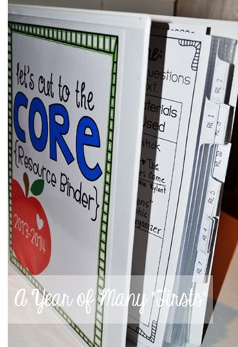 common core binder! Great way to stay organized. Includes Standards and graphic