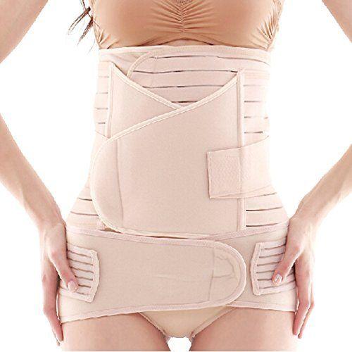 MONDAYNOON 3-in-1 Ceinture post-partum / après grossesse / maternité pour les femmes , Couleur: Nude, Taille standard