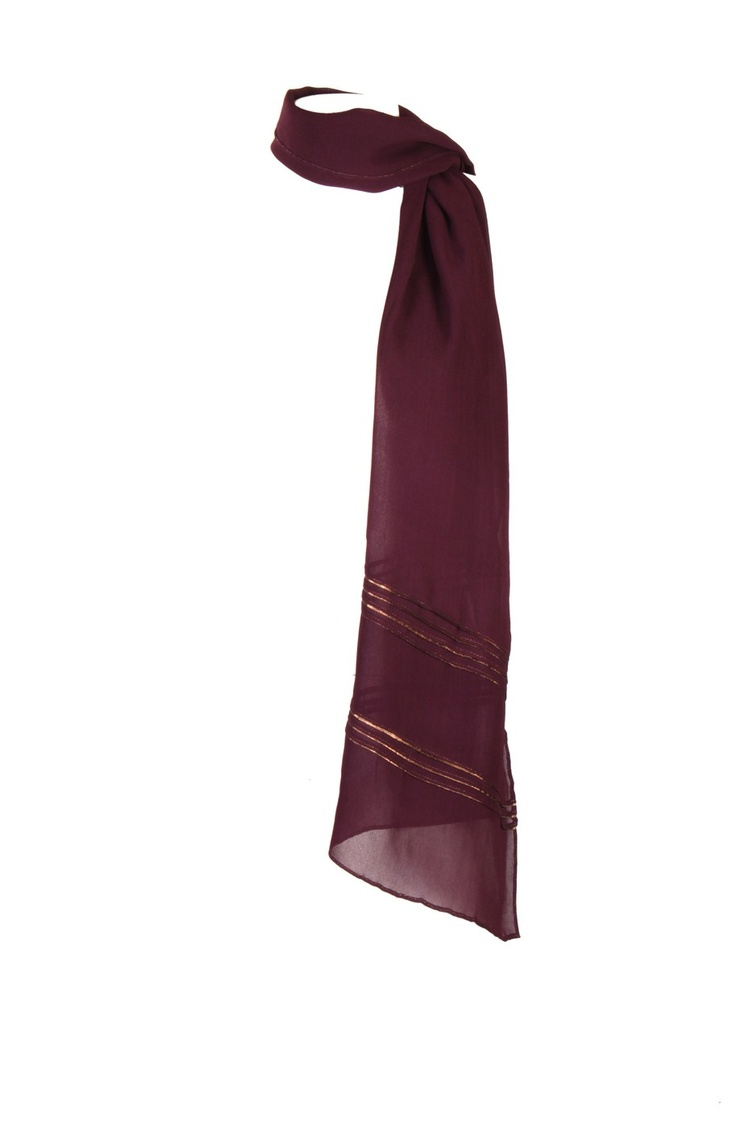 Shadow Purple Solid Dupatta In Poly Georgette With Pleats & Tapes At Both Ends With Hangings & Pin Fold Finish Around The Edges; Non Crinkled And 2.25M In Length #Wishful #Fashion #Style #Colors #Drapes #W for #Woman