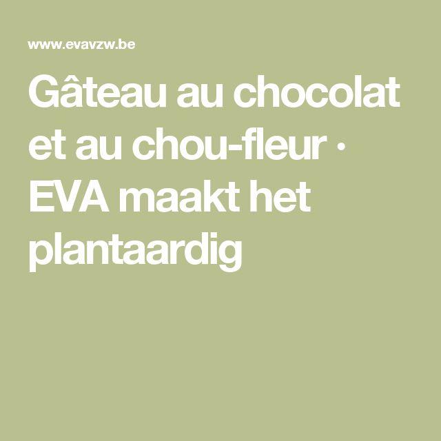 Gâteau au chocolat et au chou-fleur · EVA maakt het plantaardig