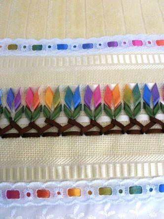 toalhas bordadas com trançado de fitas - Buscar con Google