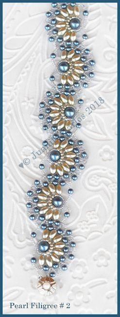 Bead Tutorial - Pearl Filigree # 2 Bracelet - Netting stitch – Bead Patterns by Jaycee