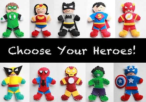 Super Hero Baby Mobile - Superhero Baby Crib Mobile - Super Hero Mobile