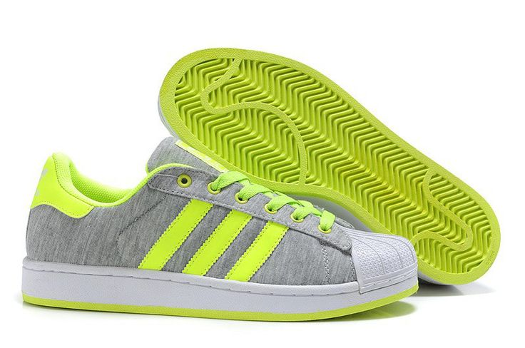 Adidas Superstar 2 G17253 Grey Lime Trainers Shoes UK Discount http://www.hotsportuka.com/