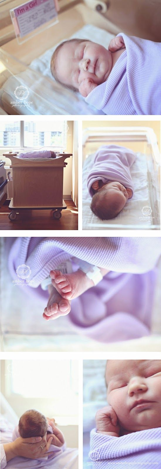 Sweet hospital newborn session.  Amber Hope Photography