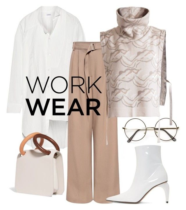 """WorkWear"" by constantinerenakossy on Polyvore featuring Loewe, TIBI, MISBHV and Roksanda"