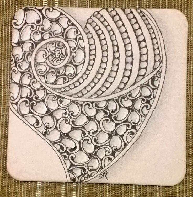 zentangle tile template - tickled to tangle it 39 s a string thing 26 tiles