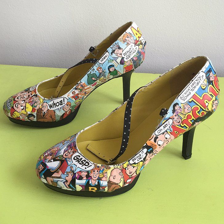 DIY Comic Book Shoes That'll Rock Your Fangirl Wardrobe: I grew up in a pretty creative family.