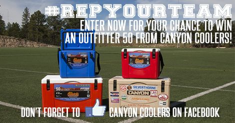 Canyon Coolers · #RepYourTeam Giveaway! Football season is here, and Canyon Cooler want's to set you up for the best tailgating season ever with a new Canyon Cooler! For your chance to win an…