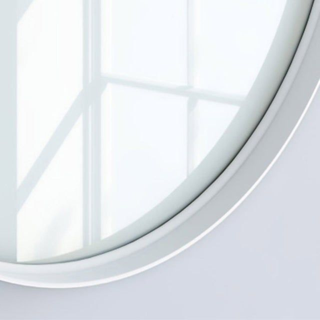 Miroir Non Lumineux Encadre L 60 X H 60 Cm Diam 60 Cm Blanc Randal Kende Leroy Merlin Miroir Blanc Et Leroy Merlin