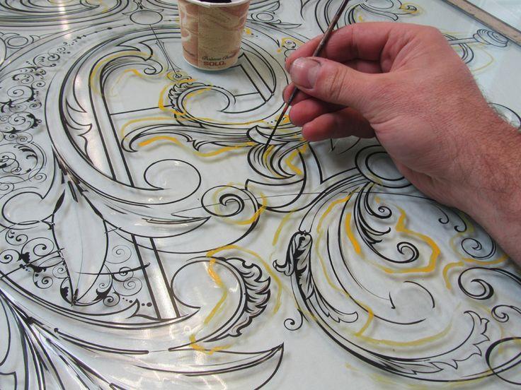 David A. Smith // ornamental glass detailing