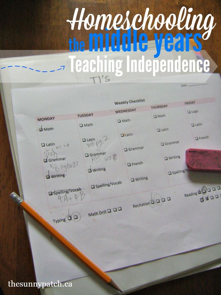 Homeschooling a middle schooler? Check out these tips for teaching them independence.