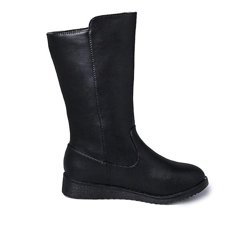 Bumud Women's Mid Calf Zipper Comfortable Leather Martin Boots *** Be sure to check out this awesome product.