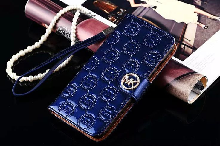 Michael Kors MK Flip Wallet Case Galaxy S7 Blue