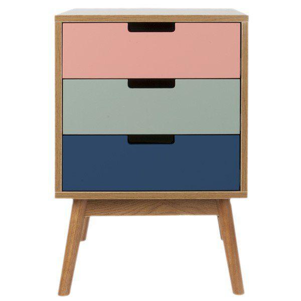 Graceful Cabinet   Three Drawers   Pink   Side Table   Leitmotiv