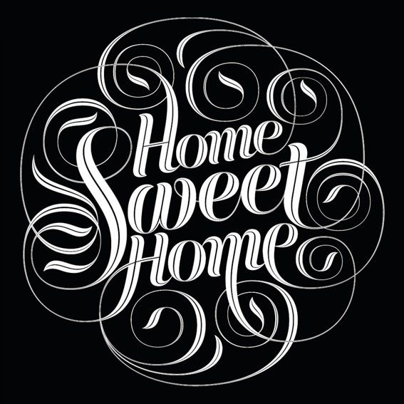 Home Sweet Home - Open edition print - Black & white edition of 'Home Sweet Home'.