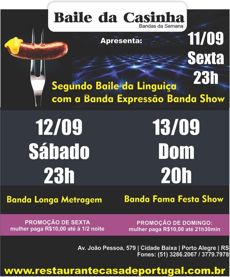 Neste fim de semana tem o segundo Baile da Linguiça. Vem dançar! #BailedaCasinha #Casinha #FestaPoa #BailePoa #PortoAlegre #BailedaLinguiça #BaladaPoa #POA #RS