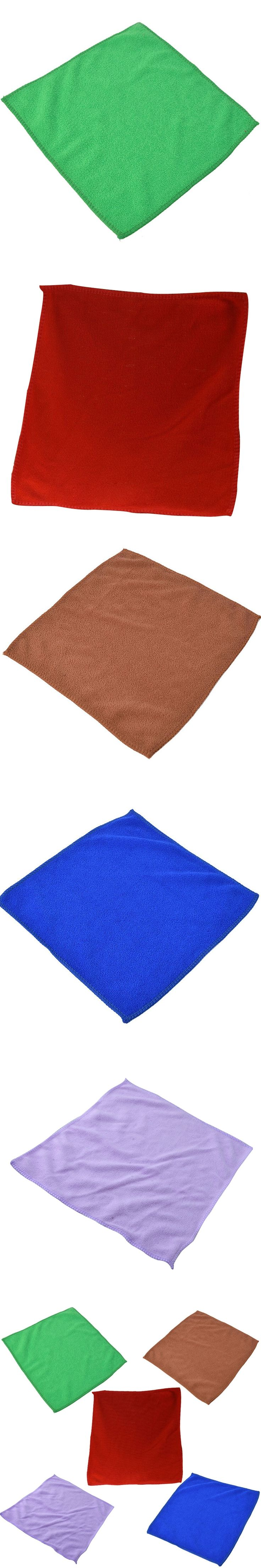 5Pcs/Pack Soft Microfiber Wash Clean Towels Cleaning Cloths Car Furniture Cleaning Duster Soft Cloths 30*30 CM
