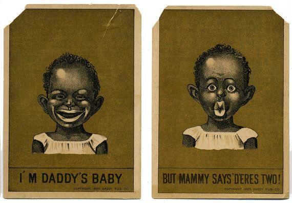 Vintage Black Americana Card